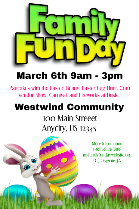 fun day poster template