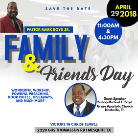 Family and Friend's Day