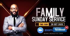 Family and friends church flyer Facebook Gedeelde Prent template