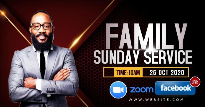 Family and friends church flyer Obraz udostępniany na Facebooku template