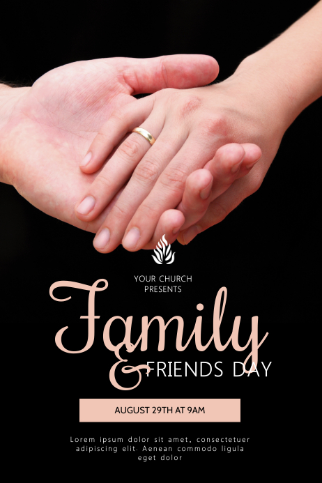 Family and Friends Day Church Event Flyer Cartaz template