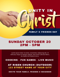 Family and friends day Flyer (US Letter) template