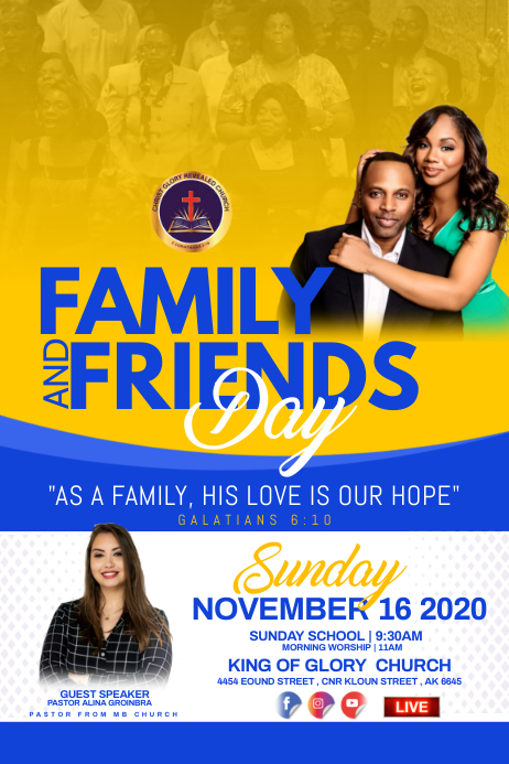 Family and friends day flyer Plakat template