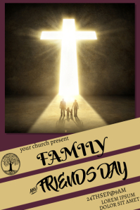 family and friends poster template