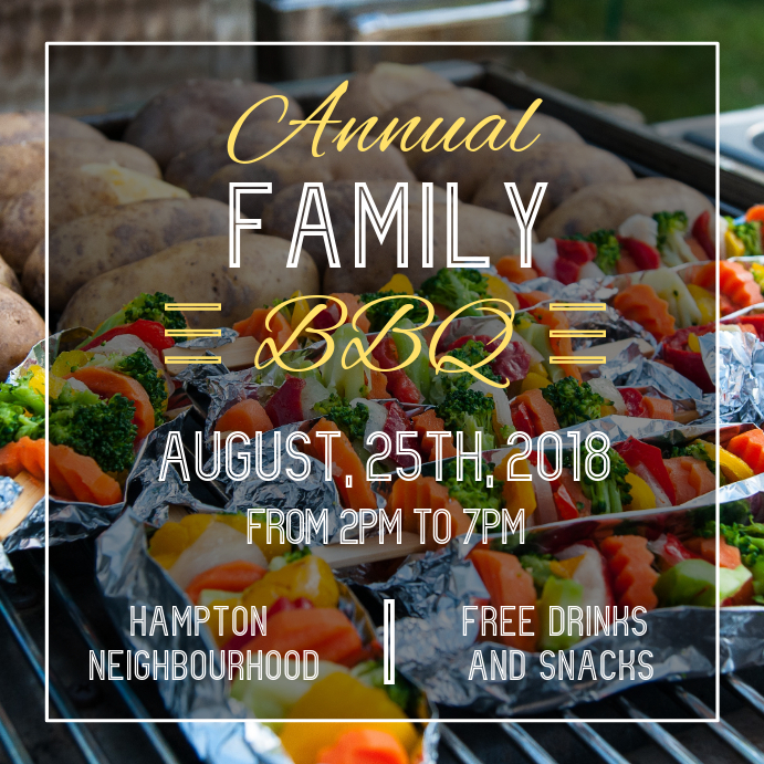 Family Barbecue Event Instagram Post Template
