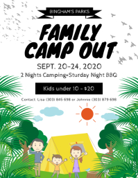 Family Camp Out Flyer