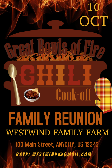 Family Chili Cook Off Template Postermywall
