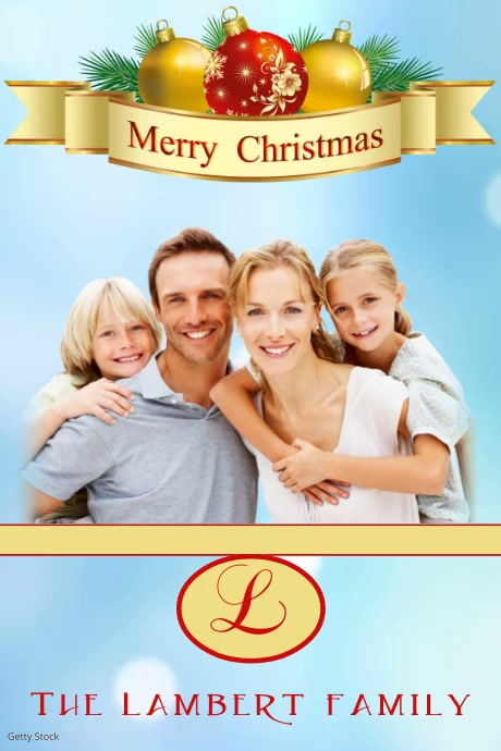 Family Christmas Card Template | PosterMyWall