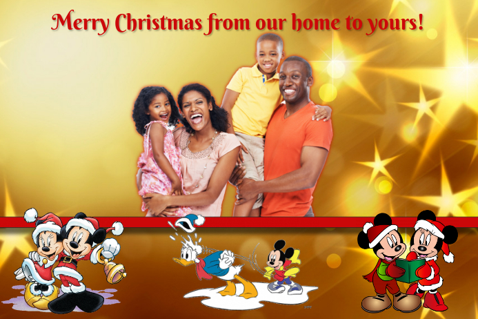 family christmas card template postermywall