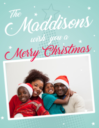 Family Christmas Greeting Card Flyer