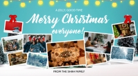 Family Christmas Photo Collage Digital Displa งานแสดงผลงานแบบดิจิทัล (16:9) template