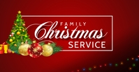 Family Christmas Service Facebook Shared Image template
