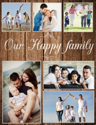 family collage,family and friend sphotoshoot Flyer (US Letter) template