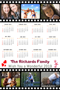 Family Collage Calendar 2019 Template