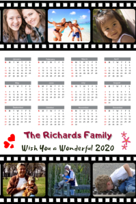 Family Collage Calendar 2020 Template