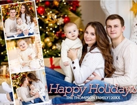 FAMILY COLLAGE CHRISTMAS CARD TEMPLATE