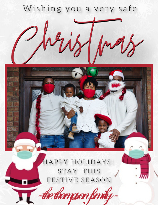 FAMILY COLLAGE CHRISTMAS CARD TEMPLATE | PosterMyWall