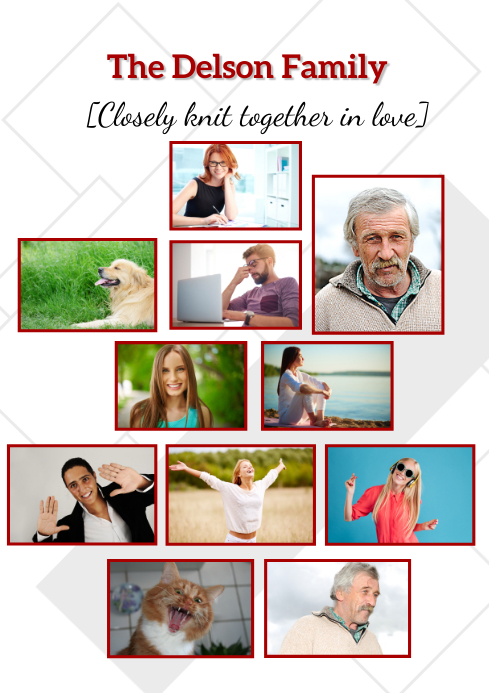 Family collage A1 template