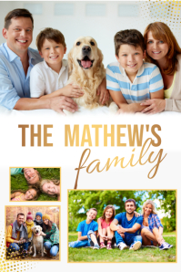 family collage flyer, collage Poster template