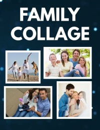 Family Collage Flyer Template 传单(美国信函)