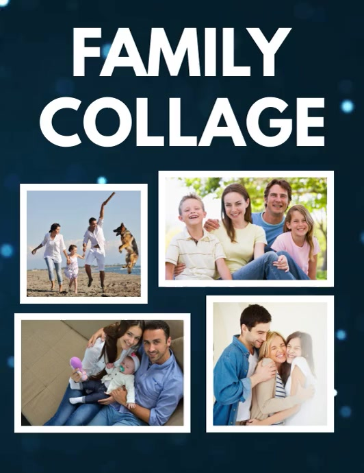 Family Collage Flyer Template Folder (US Letter)