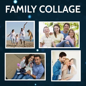 Family collage flyers โพสต์บน Instagram template