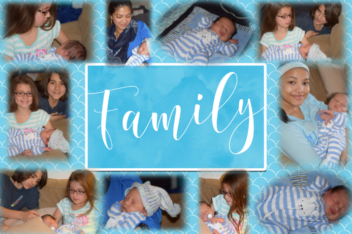 Family Collage Gift Template Multi photo poster flyer