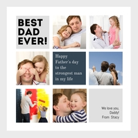 Family Collage Postcard Template Instagram-bericht