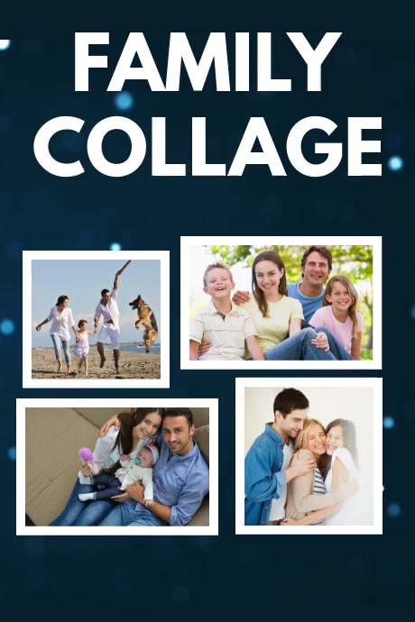 Family Collage Poster Template โปสเตอร์