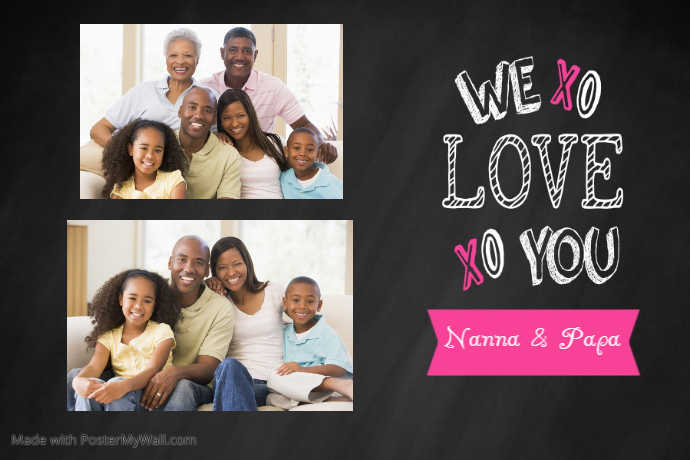 family collage We Love You
