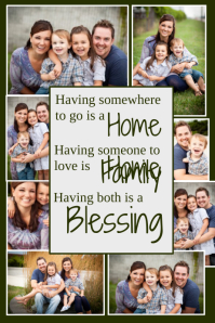 free online photo collage templates - family collage poster templates postermywall