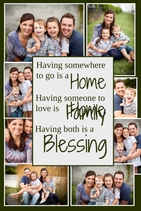 Family Collage Template Plakat
