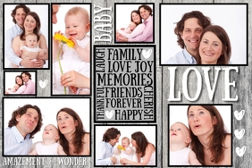 Family Collage Template Poster