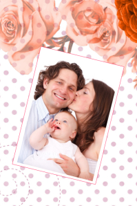 family collage template with single one photo