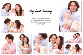 family collage with space for your text