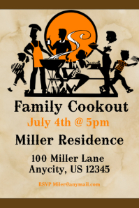 Family cookout Flyer