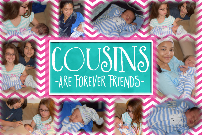Family Cousins Forever Friends Collage Photo Gift Poster