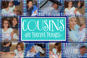 Family Cousins Friends Collage Photo Template Poster