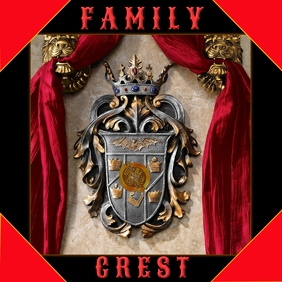 Family Crest Album Cover Portada de Álbum template