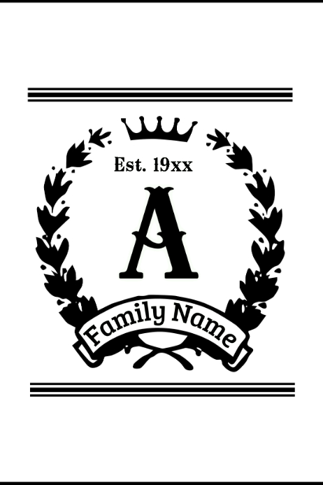 Family Crest Template