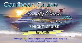Family Cruise Facebook Shared Image template