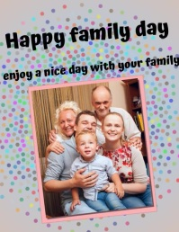family day ,international day of families Flyer (US Letter) template