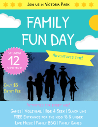 customizable design templates for family fun day template postermywall