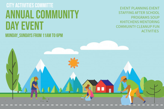 Family Day Community Event Poster Template