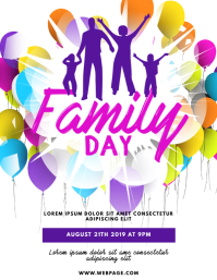 Family Day Flyer Template