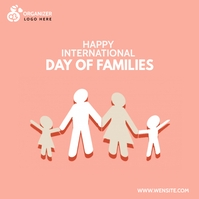 Family day Template Instagram-opslag