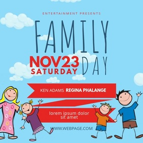 Family Day Video Ad Design Template