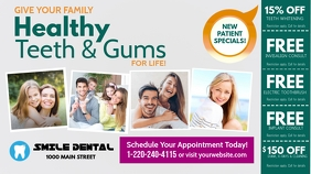 Family Dental Twitter Post template
