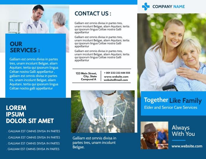 family elder care trifold brochure advertisem Pamflet (Letter AS) template