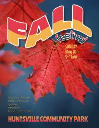 family fall festival festival flyer